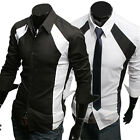 New Arrival Mens Button Down Design Muscle Tee Comfort Dress Casual Shirts