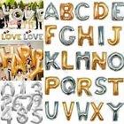 """16""""/35cm Gold Optional Foil Balloons Letters Numbers Wedding Party Decoration"""