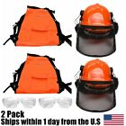 Chainsaw Safety Chaps Pants Hard Hat Helmet Glasses Chain Saw Woodcutters