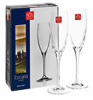 RCR Toscana Crystal Champagne Wine Flutes Glasses Glassware Stamp Base Gift Set