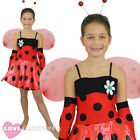 GIRL'S LADYBUG COSTUME INSECT FANCY DRESS LADY BIRD CHILD'S OUTFIT BOOK WEEK