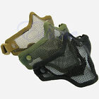 Half Lower Face Hunting Tactical Protective Metal Steel Net Mesh Airsoft Mask