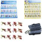 12pcs Fly Fishing Lure / 30pcs Spoon Metal Fishing Lures / Fishing Tackle Box