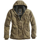 SURPLUS STONESBURY MENS HOODED WINTER JACKET HUNTING COAT COTTON WOODLAND CAMO