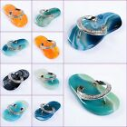 Multi-color agate flip flops shoes pendant 50mm