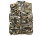MENS HUNTERS BODYWARMER Gents tough cotton camo gilet jacket oak tree camouflage