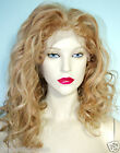 Luscious Front Lace Wig Remi Remy Indian Human Hair Wavy Curly Blonde Mix