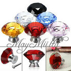Clear Crystal Glass Kitchen Bedroom Wardrobe Door Knobs Pull Handle Drawer