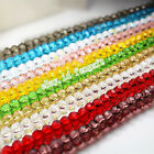 70 FACETED RONDELLE Swarovski CRYSTAL GLASS BEADS 8MM / 6MM PICK COLOUR