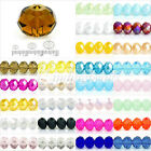 5040 72Pc Crystal Czech Loose Spacer Glass Beads Rondelle Faceted Jewelry Making
