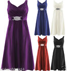 Womens Cross Wrap Over Buckle Tie Back Cocktail Evening Party Dress Plus Sizes