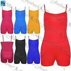 Womens Ladies Strappy Jersey Camisole Stretch Spaghetti Straps Jumpsuit Playsuit