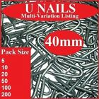40mm U Nails ~  Heavy Duty Netting Staples ~ Galvanised Fencing Chicken Wire