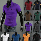 New Hot Mens Luxury Casual Stylish Slim Fit Short Sport Sleeve T-Shirt 10 Colors