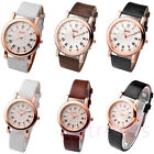 1pc/pair Roman Numeral Couple Lovers Ladies Gens Quartz Wrist Watch,Leather Band