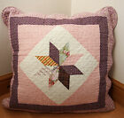 "Shabby Chic Country Vintage Patchwork 18x18"" Purple Quilted Cotton Cushion Cover"