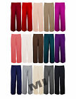 Womens Palazzo Baggy Trousers Ladies Flared Wide Leg Plain Pants Leggings 8-14