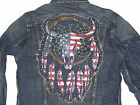 Polo Ralph Lauren Denim & Supply Mens Dreamcatcher Indian Skull Slim Jean Jacket