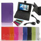 "Keyboard Case+Gift For 7-Inch Mach Speed 7"" Trio Stealth G4 G2 Tablet GB6"