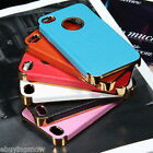 For iPhone 4 4S  Aluminum Steel Hard Cover Case w/ Screen Protector + Stylus