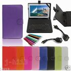 """Keyboard Case Cover+Gift For 10.1"""" RCA RCT6103W46 Android Tablet GB6"""