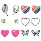 925 Sterling Silver Studs Earrings Designs Girls Womens Childrens Gift Boxed - B