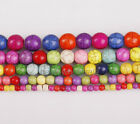 Wholesale  Howlite Turquoise Gemstone Round Beads  Multicolor 5 size