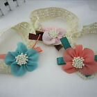 BABY GIRL'S LACE FLOWER HEADBAND  HAIR ACCESSORIES INFANT HAIR BAND BB-053