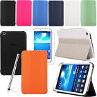 """Leather Smart Book Case Cover Fr Samsung Galaxy Tab 3 8.0"""" T310 UK Free Shipping"""