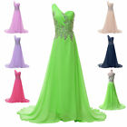 2014 Glam Long Formal Wedding Bridesmaid Gown Evening Prom Dress Stock Size 6-18