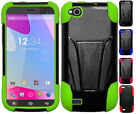 For BLU Life Play X Advanced HYBRID KICK STAND Rubber Case Phone Cover