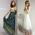 Sexy Women Summer Casual Maxi Floral Long Chiffon Dress Sundress Beach Dress New