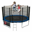 Trampoline 8FT With FREE Rain Cover, Ladder, Safety Net Enclosure, + Shoe Bag