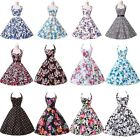 FLORAL Rockabilly Vintage Swing Lady Evening Dress 50s 60 Gown Pin Up Prom Dress