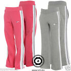 Nike Older Girl's TrackPants Bottoms Joggers Grey Pink All Sizes S M L XL 381598