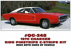 QG-248 1970 DODGE CHARGER - R/T SIDE C-STRIPE - PINSTRIPE DECAL KIT - RARE