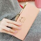 Classic New Womens Card Purse Wallet Long Clutch Bag Leather Bowknot Button Fold