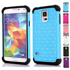 Skins Protect Shell shining rhinestones embellished For Samsung Galaxy S5 i9600