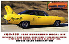 QG-285 1970 PLYMOUTH SUPERBIRD - COMPLETE STRIPE  BIRD  and  DECAL KIT