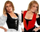 RENAISSANCE VICTORIAN COSTUME DRESS-UP MEDIEVAL CORSET PIRATE TOP WENCH BODICE