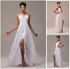 2014 NEW  Stunning Split Evening Formal Prom Party Cocktail Dresses Wedding Gown