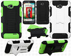 LG Optimus L70 Armor HYBRID KICKSTAND Rubber Case Cover Accessory