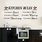 Kitchen Rules Wall Art Quotes Vinyl Sticker, Diy Home Wall Decal- High Quality