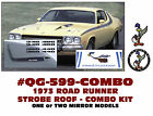 QG-599+ 1973 PLYMOUTH ROAD RUNNER - SIDE and ROOF STROBE STRIPE - COMBO