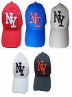 MENS BOYS ONE SIZE VELCRO BACK ADJUSTABLE BASEBALL CAP HAT NY NEW YORK LOGO