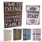 LARGE RETRO DESIGN WALL PLAQUES - Rustic Sign Hanging Kitchen Home Shabby Chic