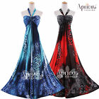 Plus Size Women Prom Sexy Leopard Gown Wedding Evening Party Long Maxi Dresses