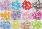 Wholesale 200pcs Clear Acrylic Trumpet  Lovely Flower Beads DIY Jewelry making