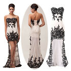 Feminine Lace High-Low Bodycon Formal Wedding Ball Prom Party Evening Dress