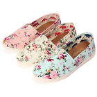 New Women Floral Lazy Female Single Shoes Leisure Canvas Flat Heel Loafer Shoes